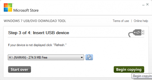 step3 usb/dvd tool