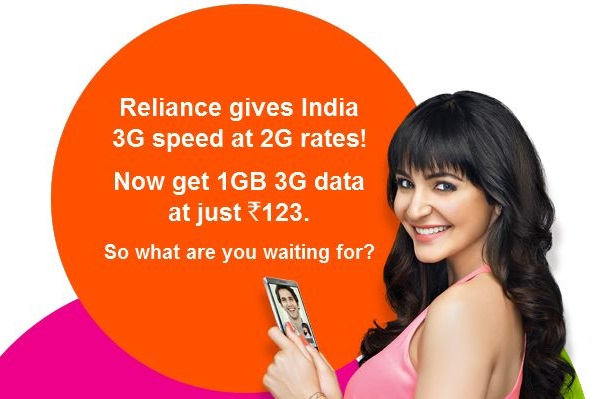 reliance 3g for 2g promo