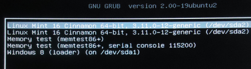GRUB Screen DualBoot