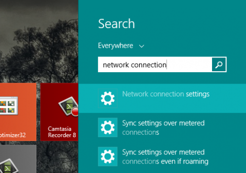 Windows 8 .1 Start Search