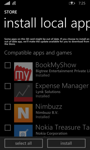 Installing Downloaded Apps (XAP/APPX) on Windows Phone 8 1