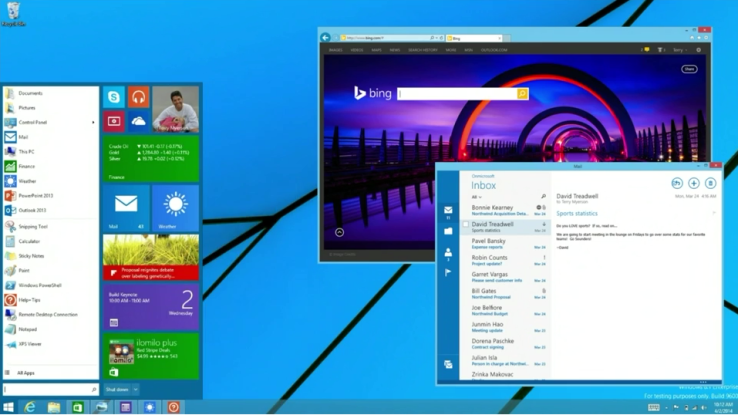 start menu windows 8.1