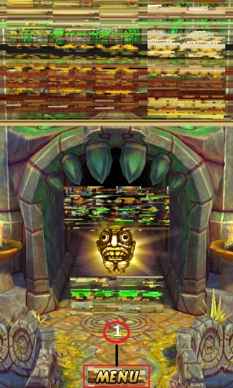 temple run 525 distorted home
