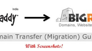 Godaddy to Bigrock Domain Transfer