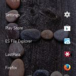 Home screen of z launcher