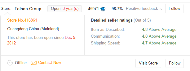 aliexpress seller badge
