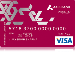 axis priority debit card