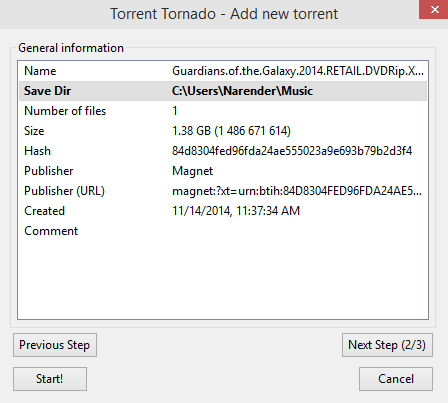 Add Torrent - Torrent Tornado Firefox