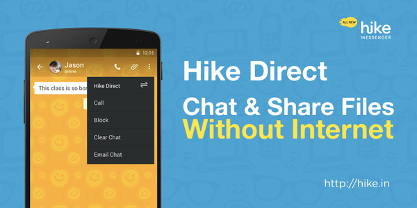 hike direct chat share
