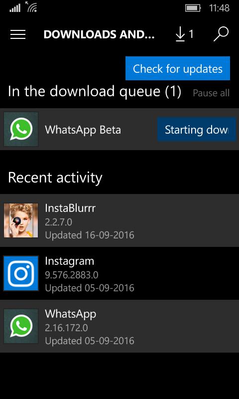 downloading whatsapp beta