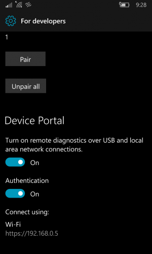 windows device portal