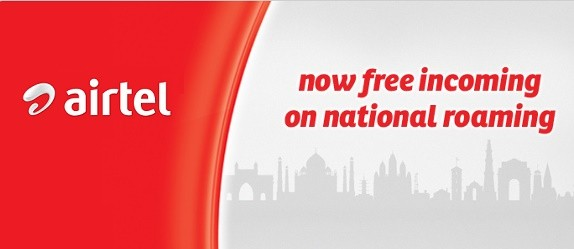 Airtel: Free National Roaming Anywhere in India from 1st of