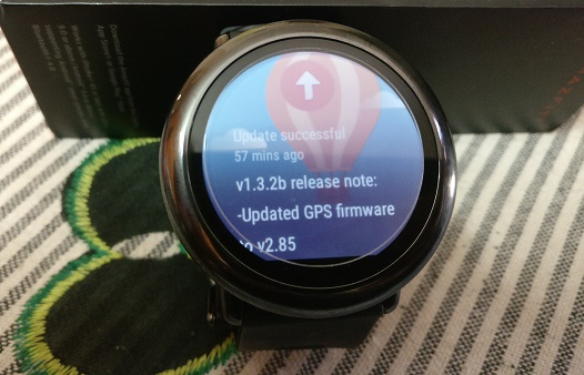 Amazfit 1.3.2b update successful