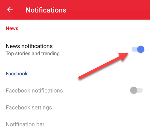 How to Disable News Feed & Notifications in Opera Apps for Android