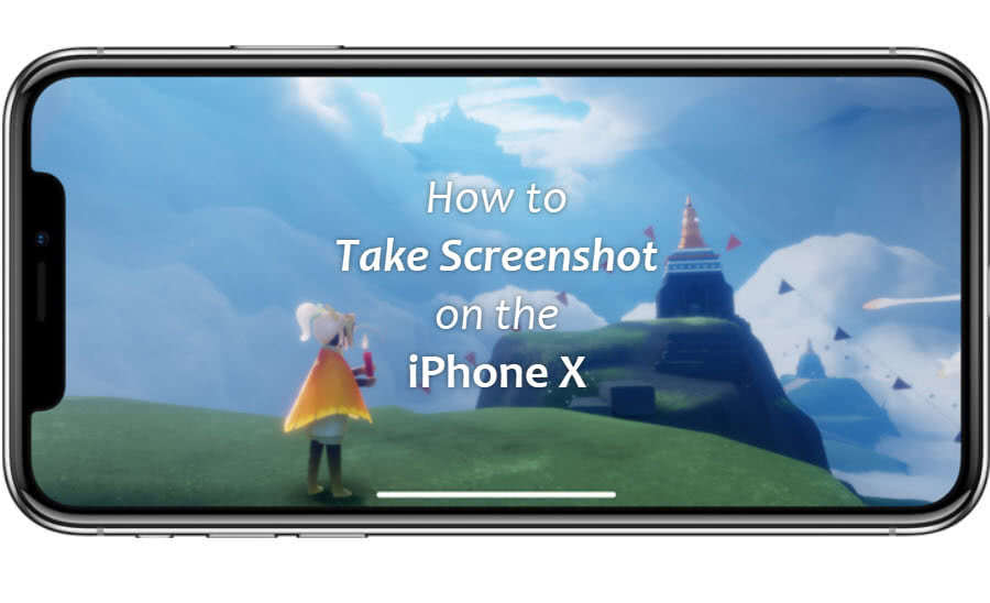 Key combination to take screenshot on iPhone X