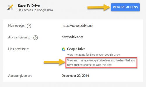 View permissions for apps connected to Google Account