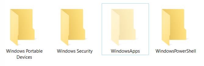 WindowsApps Hidden Folder in Windows 10