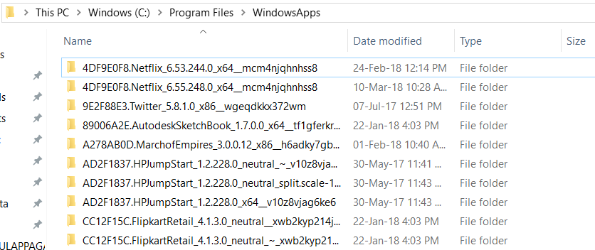 WindowsApps Folder
