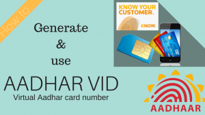 Aadhar VID Generate and Use
