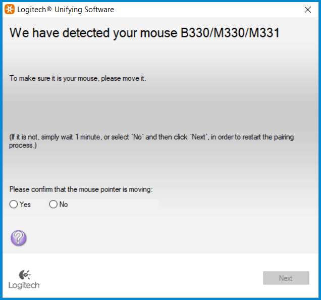 Logiteck unifying software pair a mouse
