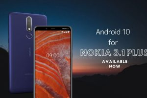 Android 10 for Nokia 3.1 plus