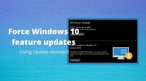 Force Windows 10 feature updates