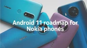 Nokia Android 11 roadmap header