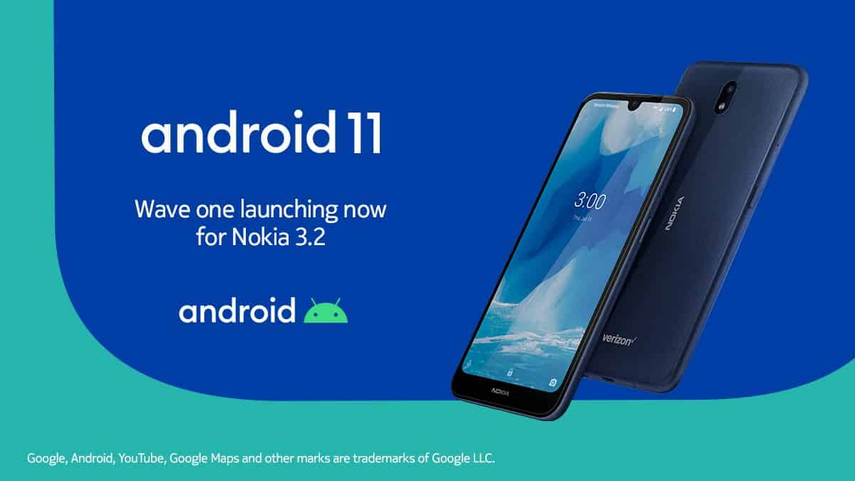 Nokia 3.2 Android 11 update rollout started