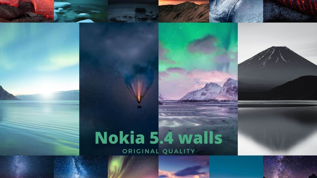 Download Nokia 5.4 stock wallpappers