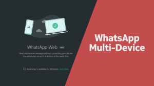 WhatsApp Multi-Device - use whatsapp on multiple devices at the same time